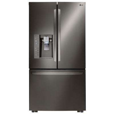 32 cu. ft. 3-Door French Door Refrigerator in Black Stainless Steel