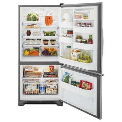 18.7 cu. ft. Bottom Freezer Refrigerator in Stainless Steel