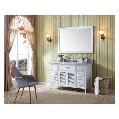 Kensington 54 in. Bath Vanity Cabinet Only in White