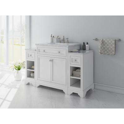 Mornington 30 in. W x 21 in. D Single Bath Vanity in White with Marble Vanity Top in White with White Sink