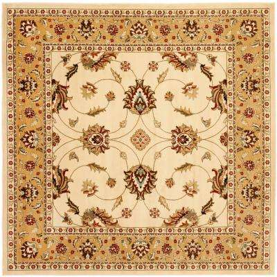 Lyndhurst Ivory/Beige 6 ft. 7 in. x 6 ft. 7 in. Square Area Rug