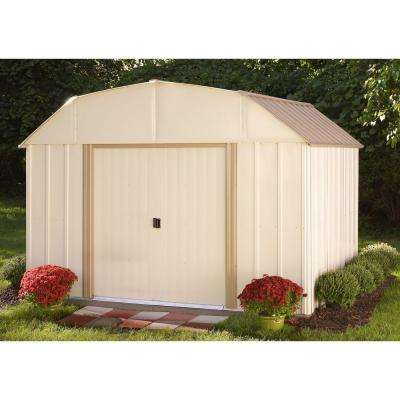 Dakota 10 ft. W x 8 ft. D 2-Tone Galvanized Steel Shed with Galvanized Steel Floor Frame Kit