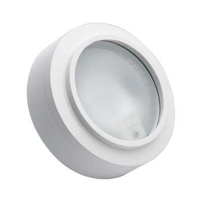 Zeepuk 1-Lamp Xenon White Puck Light with Frosted Glass