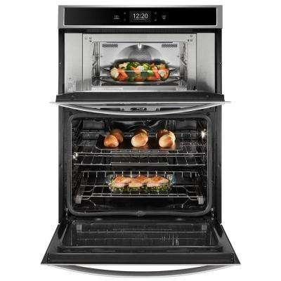 6.4 cu. ft. Smart Combination Electric Wall Oven with Built-In Microwave in Fingerprint Resistant Stainless Steel