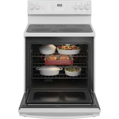 30 in. 5.0 cu. ft. Gas Range with Self-Cleaning Convection Oven and Air Fry in White