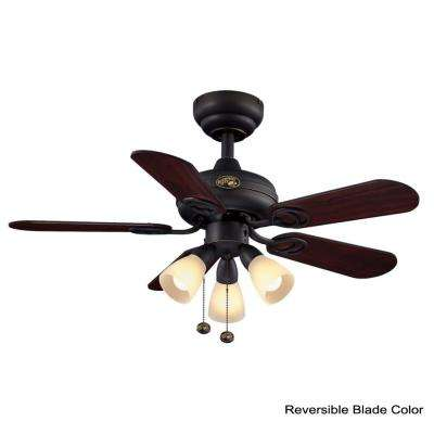 San Marino 36 in. LED Indoor Oil Rubbed Bronze Ceiling Fan with Light Kit