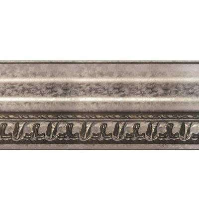 Grand Baroque 1 in. x 6 in. x 96 in. Wood Ceiling Crown Molding in Galvanized Steel