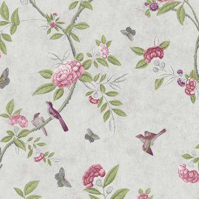 56 sq. ft. Parchment Chinoiserie Wallpaper
