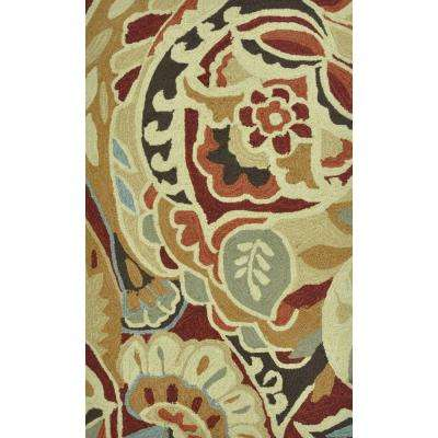 Summerton Life Style Collection Red/Multi 2 ft. 3 in. x 3 ft. 9 in. Accent Rug