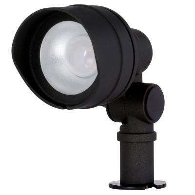 Low-Voltage Integrated LED (20-Watt Halogen Equivalent) Outdoor Black Flood Light