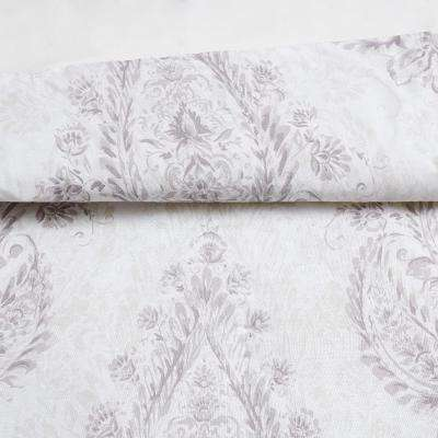 Paisley Blossom 2 Piece Purple Cotton Twin XL Comforter Set