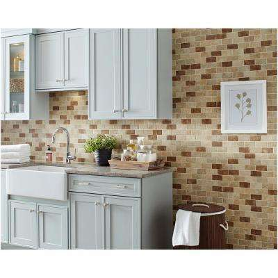 Santa Barbara Pacific Sand Blend 12 in. x 12 in. x 6 mm Glazed Ceramic Mosaic Tile (0.8333 sq. ft. / piece)
