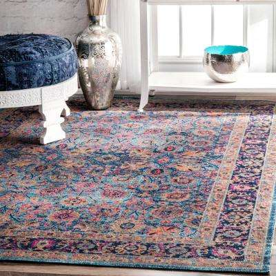 Isela Vintage Persian Blue 9 ft. x 12 ft. Area Rug