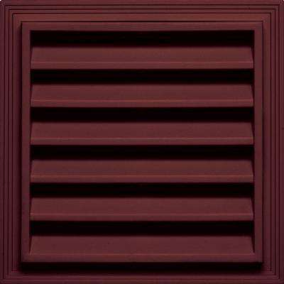 12 in. x 12 in. Square Gable Vent in Wineberry