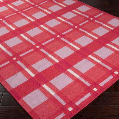 Country Living Hot Pink 8 ft. x 11 ft. Flatweave Area Rug