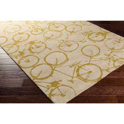 Shibata Gold 3 ft. x 8 ft. Indoor Runner Rug