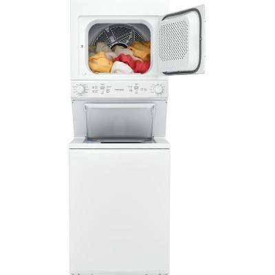 White Laundry Center with 3.9 cu. ft. Washer and 5.5 cu. ft. Gas Dryer