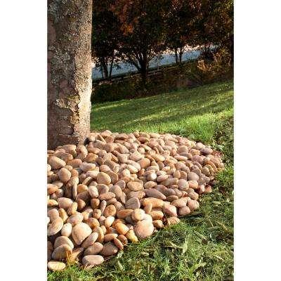 0.5 cu. ft. 3 cm to 5 cm Dorado Beach River Rock approx. 40 lbs. Bag (21 cu. Ft. / 42 Bags / Pallet)