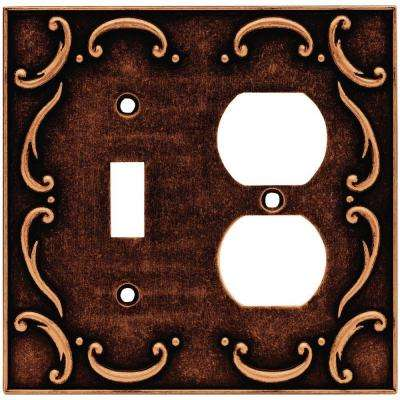French Lace 2-Gang Switch Duplex Wall Plate