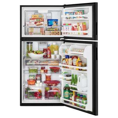 21 cu. ft. Top Freezer Refrigerator in Black