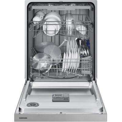 24 in. Front Control Dishwasher in Stainless Steel with Stainless Interior Door and 3rd Rack, 51 dBA