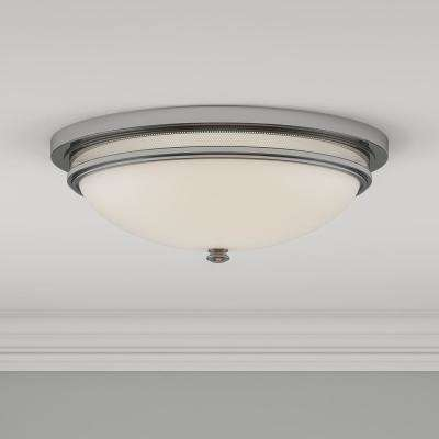 3-Light Polished Chrome Ceiling Flush Mount