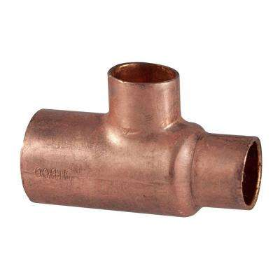 1 in. x 3/4 in. x 3/4 in. Copper Pressure Cup x Cup x Cup Tee