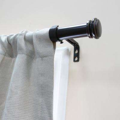 Mix and Match 36 in. L to 72 in. L Telescoping 1 in. Single Curtain Drapery Rod Kit in Oil Rubbed Bronze
