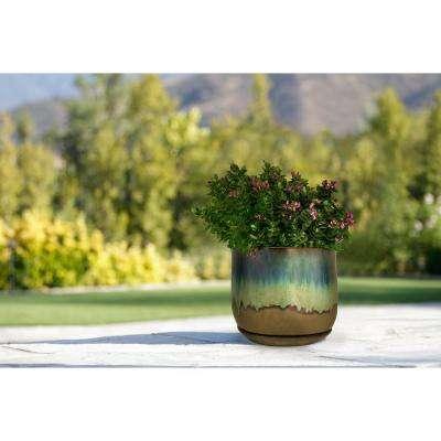 12 in. Dia Multi-Color Ceramic Bella Planter