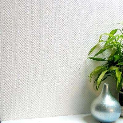 Herringbone Paintable Anaglypta Pro Vinyl Strippable Wallpaper (Covers 57.5 sq. ft.)