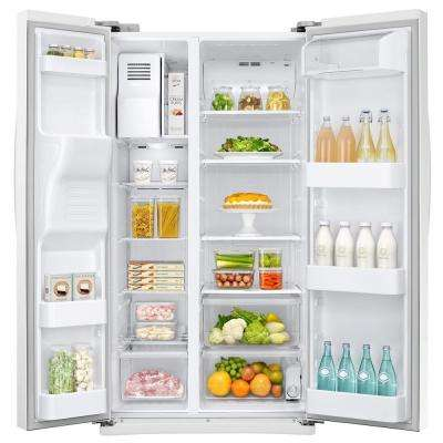 24.5 cu. ft. Side by Side Refrigerator in White