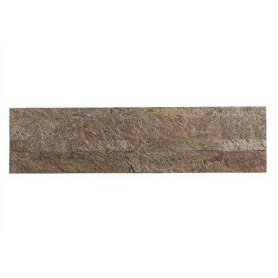 24 in. x 6 in. Peel and Stick Stone Backsplash in Tarnished Quartz