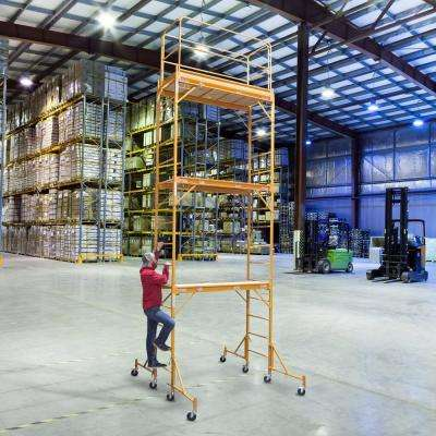 3-Story Rolling Scaffold Tower with 1000 lbs. Load Capacity