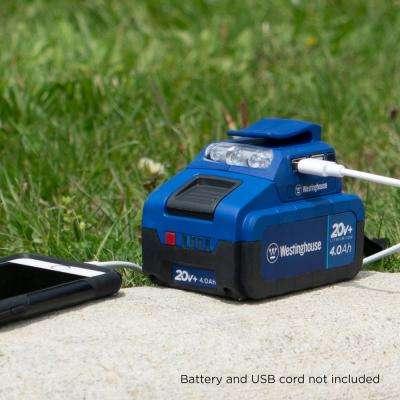 20-Volt USB Power Adaptor with LED Flashlight
