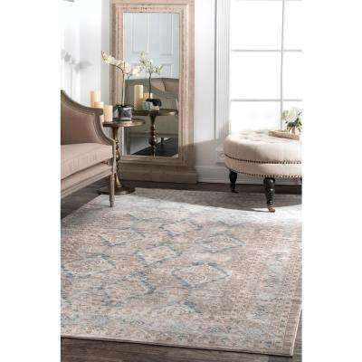Vintage Sherell Taupe 10 ft. x 14 ft. Area Rug