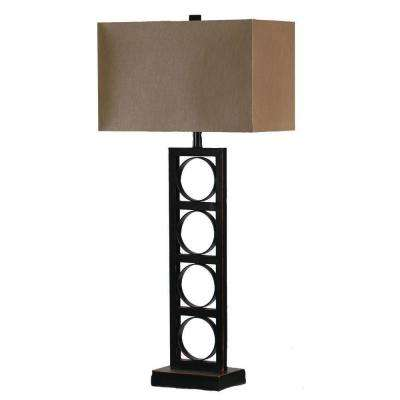 35 in. Bronze Brown Metal Table Lamp-DISCONTINUED