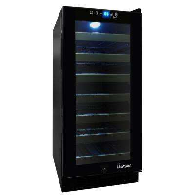 33 Bottle Touch Screen Wine Cooler with Front Exhaust