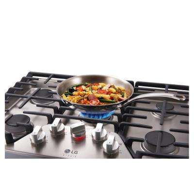 30 in. Recessed Gas Cooktop in Stainless Steel with 5 Burners including Ultraheat Dual Burner
