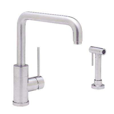 Purus I Single-Handle Standard Kitchen Faucet with Side Sprayer in Satin Nickel