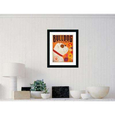 "18 in. W x 22 in. H ""Bulldog Blooms"" by Stephen Fowler Framed Art Print"