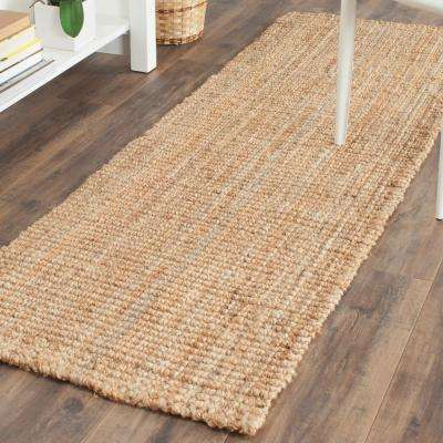 Natural Fiber Beige 2 ft. x 11 ft. Runner Rug