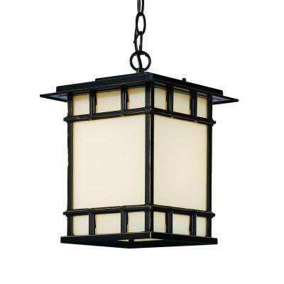 1-Light Rubbed Oil Bronze Outdoor Chateau View Hanging Lantern