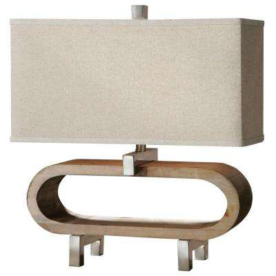 21 in. Wood Table Lamp
