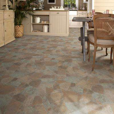 Princeton Stone Residential Vinyl Sheet, Sold by 13.2 ft. Wide x Custom Length