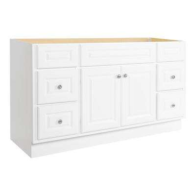 Hampton 60 in. W x 21 in. D x 33-1/2 in. H Bath Vanity Cabinet Only in White