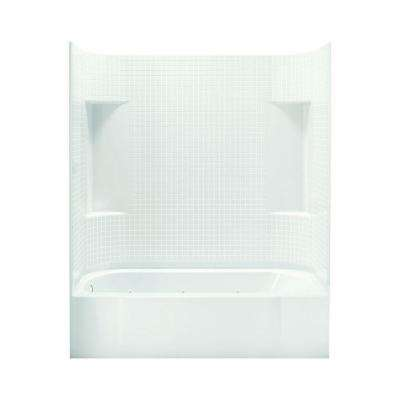 Accord 30 in. x 60 in. x 73.25 in. Bath and Shower Kit with Left-Hand Drain inWhite