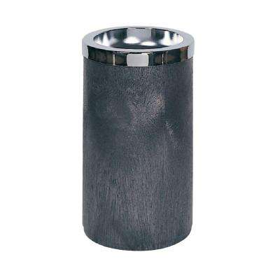 Rubbermaid Commercial Products 1 Gal. Black Smoking Urn with Metal Ashtray Top
