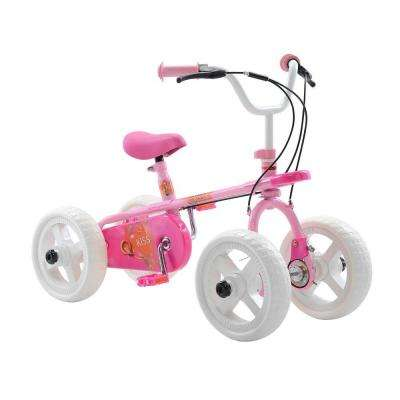 Kiss Kid's Cycle, 10 in. Wheels, 2, 3 or 4-Wheel Design, Girl's Bike in Pink