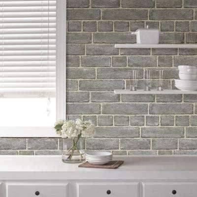 Peel Stick Brick Vinyl Wallpaper Home Decor The Home Depot