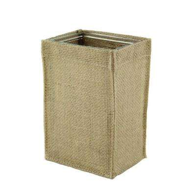 4-1/4 in. x 6 in. Rectangular Burlap with Glass Vase